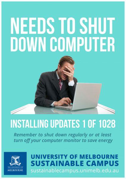Shutdownn Computer Poster