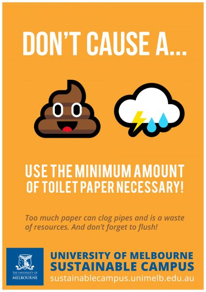 Save Toilet Paper Poster