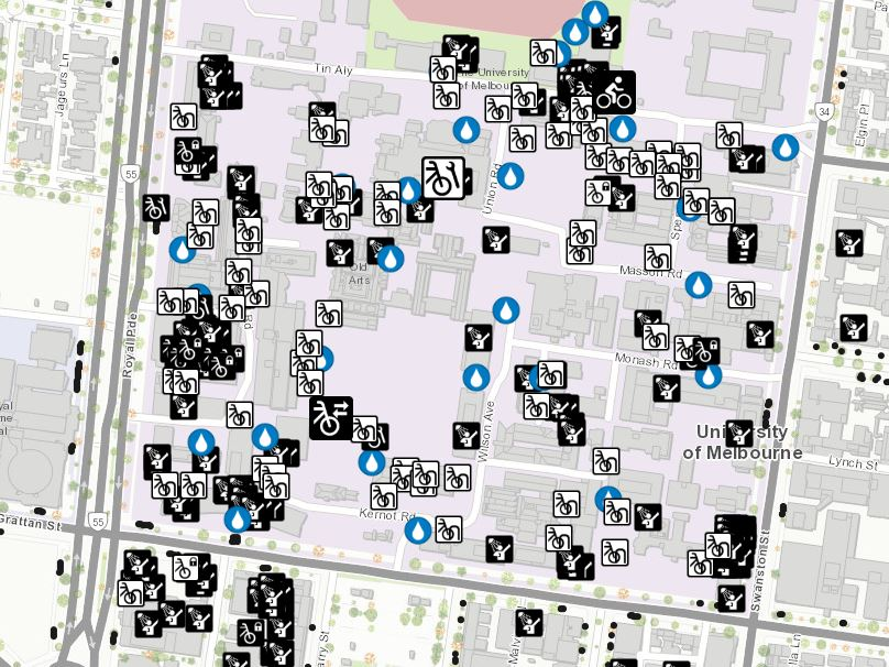 Cycling@Unimelb Map