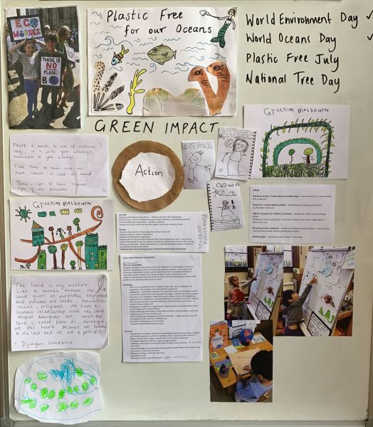 Children's drawings and activities from the eco action week