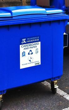 Blue Cardboard Bin